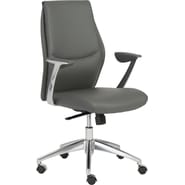 Euro Style™ Crosby Leatherette Low Back Office Chair, Gray