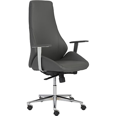Euro Style™ Bergen Leatherette High Back Office Chair, Gray