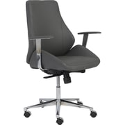 Euro Style™ Bergen Leatherette Low Back Office Chair, Gray