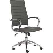 Euro Style™ Axel Leatherette High Back Office Chair, Gray