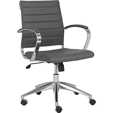 Euro Style™ Axel Leatherette Low Back Office Chair, Gray
