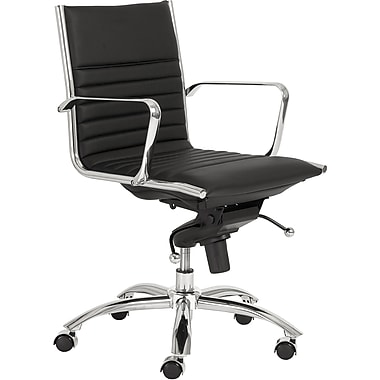 Euro Style™ Dirk Leatherette Low Back Office Chair, Black