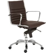 Euro Style™ Dirk Leatherette Low Back Office Chair, Brown