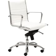 Euro Style™ Dirk Leatherette Low Back Office Chair, White