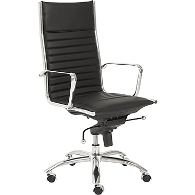Euro Style™ Dirk Leatherette High Back Office Chair, Black