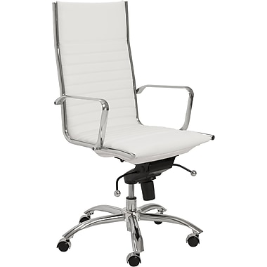 Euro Style™ Dirk Leatherette High Back Office Chair, White