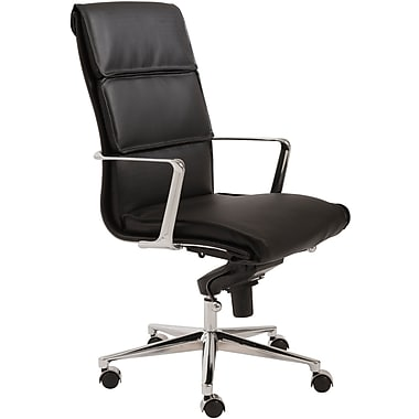Euro Style™ Leif Leatherette High Back Office Chair, Black