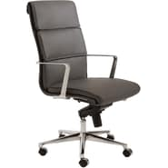 Euro Style™ Leif Leatherette High Back Office Chair, Gray