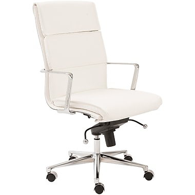 Euro Style™ Leif Leatherette High Back Office Chair, White