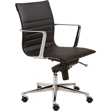 Euro Style™ Kyler Leatherette Low Back Office Chair, Black