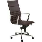 Euro Style™ Kyler Leatherette High Back Office Chair, Brown