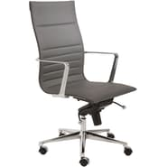 Euro Style™ Kyler Leatherette High Back Office Chair, Gray