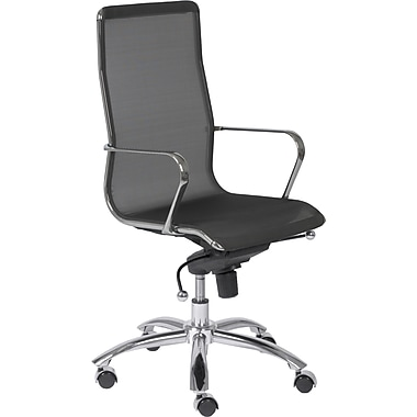 Euro Style™ Osborn Mesh High Back Office Chair, Black