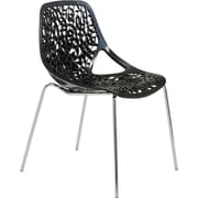 Euro Style™ Lovie Plastic Dining Side Chair, Black
