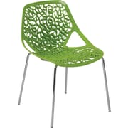 Euro Style™ Lovie Plastic Dining Side Chair, Green