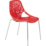 Euro Style™ Lovie Plastic Dining Side Chair, Red
