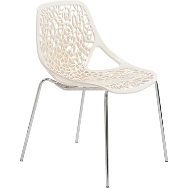 Euro Style™ Lovie Plastic Dining Side Chair, White