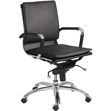 Euro Style™ Gunar Pro Leatherette Low Back Office Chair, Black
