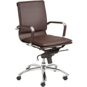Euro Style™ Gunar Pro Leatherette Low Back Office Chair, Brown