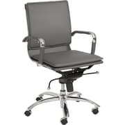 Euro Style™ Gunar Pro Leatherette Low Back Office Chair, Gray