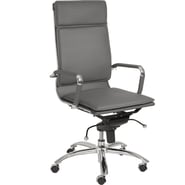Euro Style™ Gunar Pro Leatherette High Back Office Chair, Gray