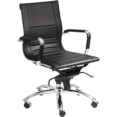 Euro Style™ Owen Leatherette Low Back Office Chair, Black