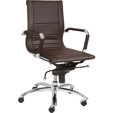 Euro Style™ Owen Leatherette Low Back Office Chair, Brown