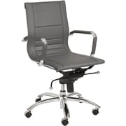 Euro Style™ Owen Leatherette Low Back Office Chair, Gray