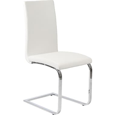 Euro Style™ Santos Leatherette Dining Side Chair, White