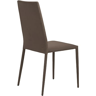 Euro Style™ Chessa Fabric Dining Side Chair, Brown