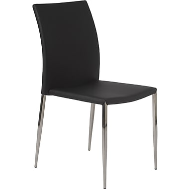 Euro Style™ Diana Leatherette Dining Side Chair, Black