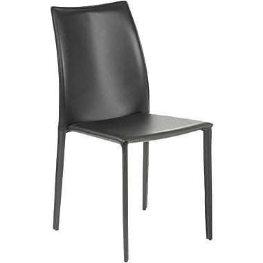 Euro Style™ Dalia Leather Dining Side Chair, Black