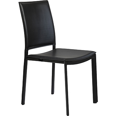 Euro Style™ Kate Leatherette Dining Side Chair, Black