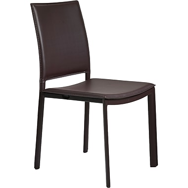 Euro Style™ Kate Leatherette Dining Side Chair, Brown