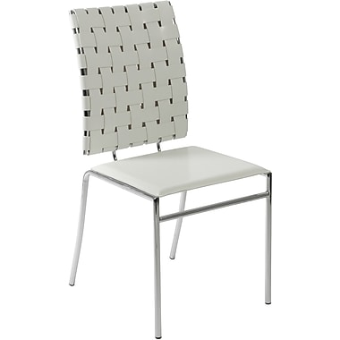 Euro Style™ Carina Leather Dining Side Chair, White