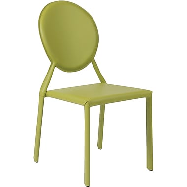 Euro Style™ Isabella Leather Dining Side Chair, Green