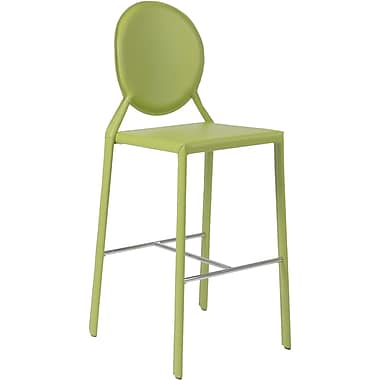 Euro Style™ Isabella-B Leather Bar Stool, Green