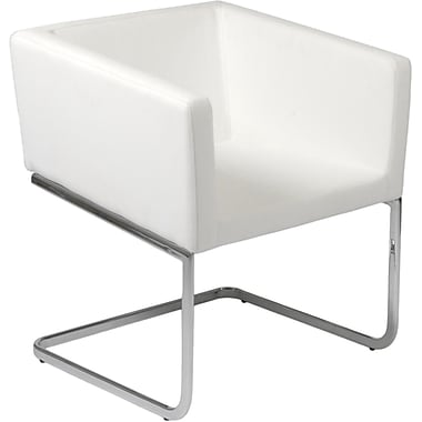 Euro Style™ Ari Leatherette Lounge Chair, White