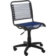Euro Style 02542 Bungee Cord Low-Back Armless Desk Chair, Blue