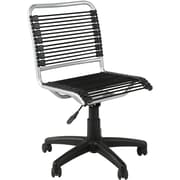 Euro Style 02546 Bungee Cord Low-Back Armless Desk Chair, Black