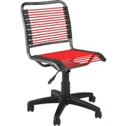 Euro Style 02547 Bungee Cord Low-Back Armless Desk Chair, Red