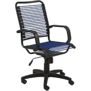 Euro Style™ Bradley Bungie Bungee Cord Loops Office Chair, Blue