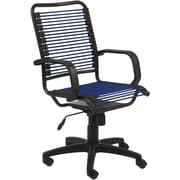 Euro Style 02548BLU Bradley Bungie Cord Desk Chair with Fixed Arms, Blue