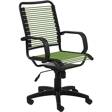 Euro Style™ Bradley Bungie Bungee Cord Loops Office Chair, Green