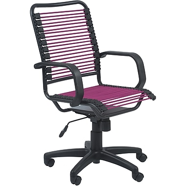Euro Style™ Bradley Bungie Bungee Cord Loops Office Chair, Pink