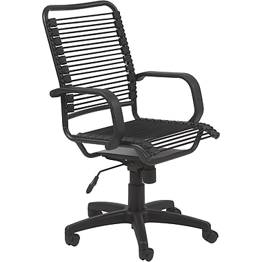Euro Style™ Bradley Bungie Bungee Cord Loops Office Chair, Black