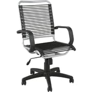 Euro Style™ Bradley Bungie Bungee Cord Loops Office Chair, Black/Aluminum