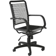 Euro Style™ Bungie Bungee Cord Loops High Back Office Chair, Graphite Black