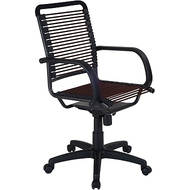Euro Style™ Bungie Bungee Cord Loops High Back Office Chair, Brown