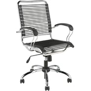 Euro Style™ Bungie Bungee Cord Loops J-Arm Office Chair, Black